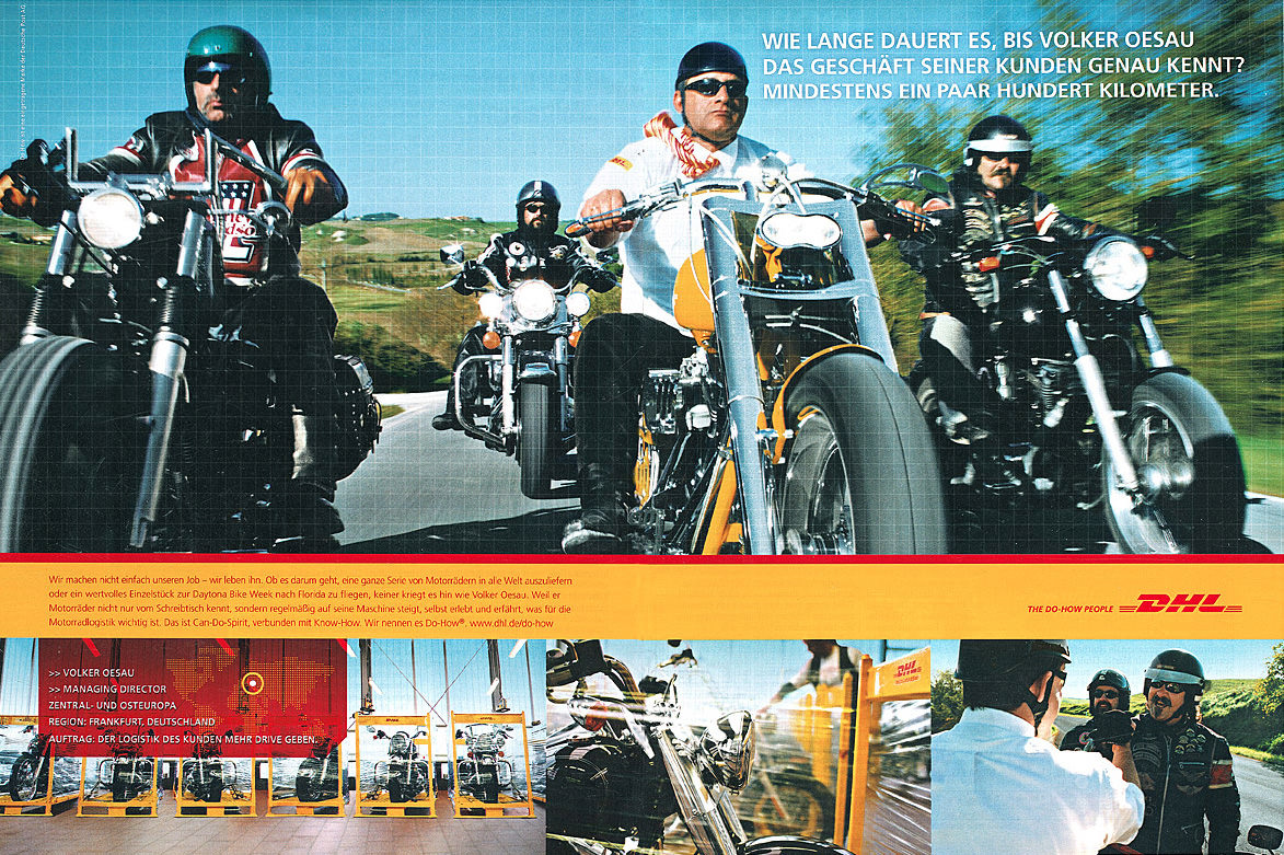 Geiss Dhl harley davidson bikers location and production tuscany