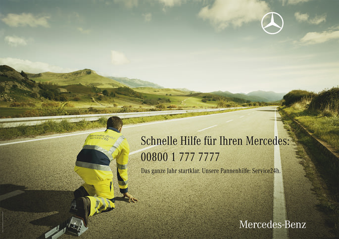 Mercedes service road location and production